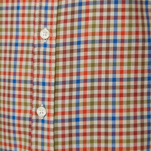 Washed Button Down Shirt - Colfax Tattersall