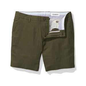 Olive Herringbone Baird McNutt Irish Linen Mens Shorts