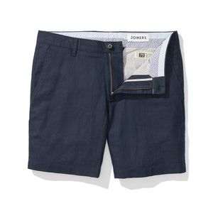 Navy Herringbone Baird McNutt Irish Linen Mens Shorts