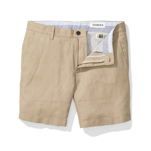 Khaki Baird McNutt Irish Linen Mens Shorts
