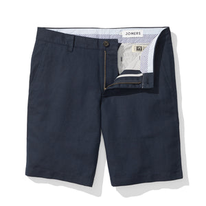 Navy Baird McNutt Irish Linen 10 Inch Mens Shorts