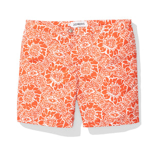 Orange Paisley Swim Trunks