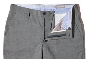 Mersey - Gray Italian Stretch Marzotto Sharkskin Trousers