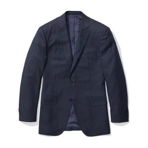 Pershing - Heather Blue Herringbone Italian Wool Suit