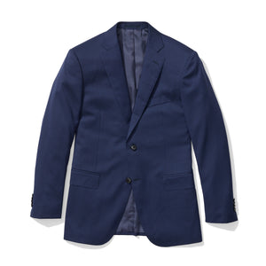 Beacon - Blue Sharkskin Italian Wool Suit