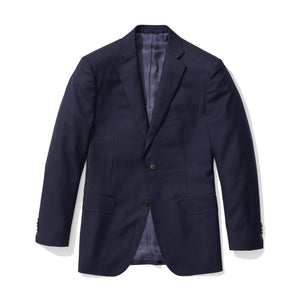 Archer - Blue Herringbone Italian Wool Suit
