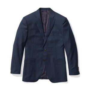 Hanover - Navy Sharkskin Italian Wool Suit