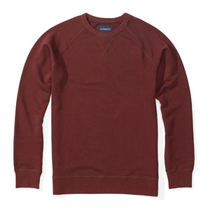 Ryan - Burgundy Crewneck French Terry Sweatshirt