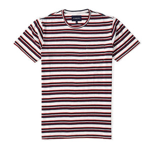 Washed Tee- Bedford Stripe