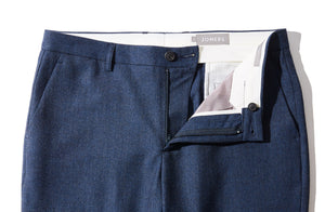 Thames - Heather Blue Flannel Trousers