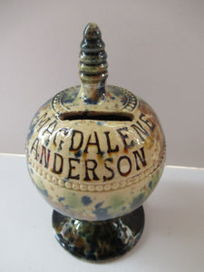 Scottish Pottery Kirkcaldy Antique Pirlie Money Box Bank