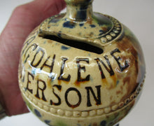 Load image into Gallery viewer, Scottish Pottery Kirkcaldy Antique Pirlie Money Box Bank