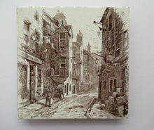 Load image into Gallery viewer, Victorian Mintons Tile. Cardinal Beaton's House in Edinburgh