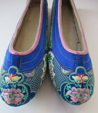ANTIQUE 1920s Chinese Shoes or Slippers