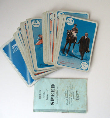 Art Deco Pepys Playing Cards. 1937 Game: Speed