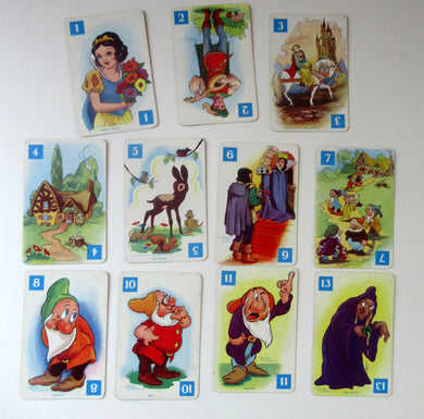 1930s Disney Pepys Playing Cards. Snow White and the Seven Dwarfs