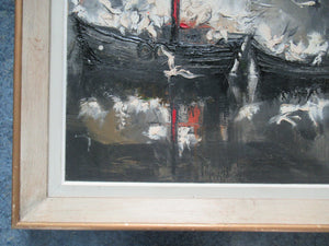 Régis de Bouvier de Cachard 1960s Abstract Oil Painting
