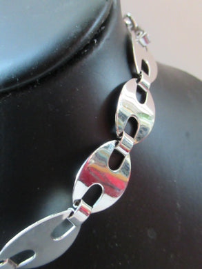 Vintage Italian Silver Choker Links Necklace
