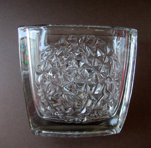 Sklo Union 1960s Czech Glass Vase