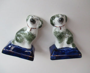 Antique Miniature Staffordshire Chimney Spaniels
