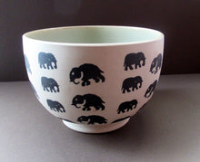 Load image into Gallery viewer, Scottish Anta Pottery Bowl Decorated with Stoneware Elephants