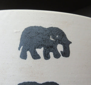 Scottish Anta Pottery Bowl Decorated with Stoneware Elephants