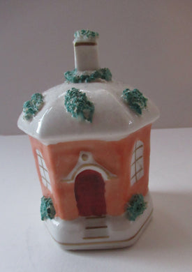 Antique 1840s Victorian Porcelain Money Box in the Shape of a Wee House
