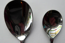 Load image into Gallery viewer, 1960s Glosswood Cutlery Six Dessert Spoons and Serving Spoon