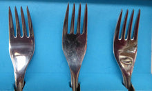 Load image into Gallery viewer, 1960s British Glosswood Cutlery. Box of Six Forks