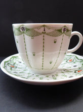 Load image into Gallery viewer, Pretty 1930s ART NOUVEAU USSR Lomonosov Porcelain. Set of Five Cups and Saucers. First Quality Issues