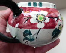 Load image into Gallery viewer, SCOTTISH POTTERY. Rare MakMerry Hand-Painted Teapot with White Prunus Blossoms and Pink Background. Excellent Condition