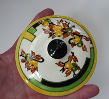 Load image into Gallery viewer, SCOTTISH POTTERY. 1930s BOUGH Pottery. Rare Twin Handled Dish & Cover - with Matching Stand. Richard Amour; Dated 1939