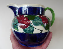 Load image into Gallery viewer, SCOTTISH POTTERY. Large Bough Pottery Jug. Hand Painted Rosy Red Apples by Richard Amour; 1920s