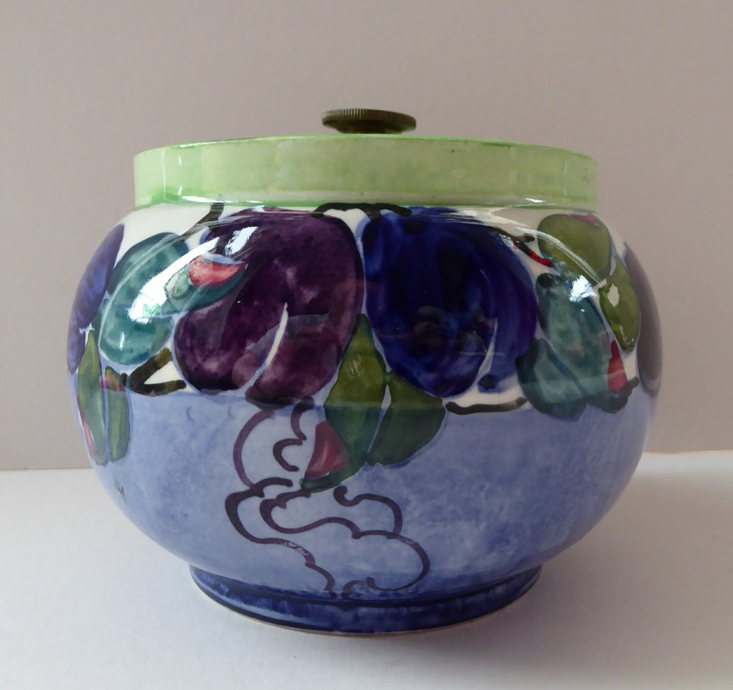 SCOTTISH POTTERY. 1930s BOUGH Pottery. Rare Ceramic Tobacco Jar. Hand-Painted by Elizabeth Amour