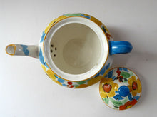 Load image into Gallery viewer, SCOTTISH POTTERY. 1930s Art Deco Scotch Ivory Floral Miniature Teapot. BRITANNIA Pottery, Glasgow. Hand Painted
