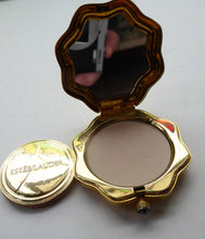 Load image into Gallery viewer, Adorable ESTEE LAUDER Miniature Pressed Powder Compact. Rarer Abstract Design Set with Enamels and Crystals. Excellent unused condition