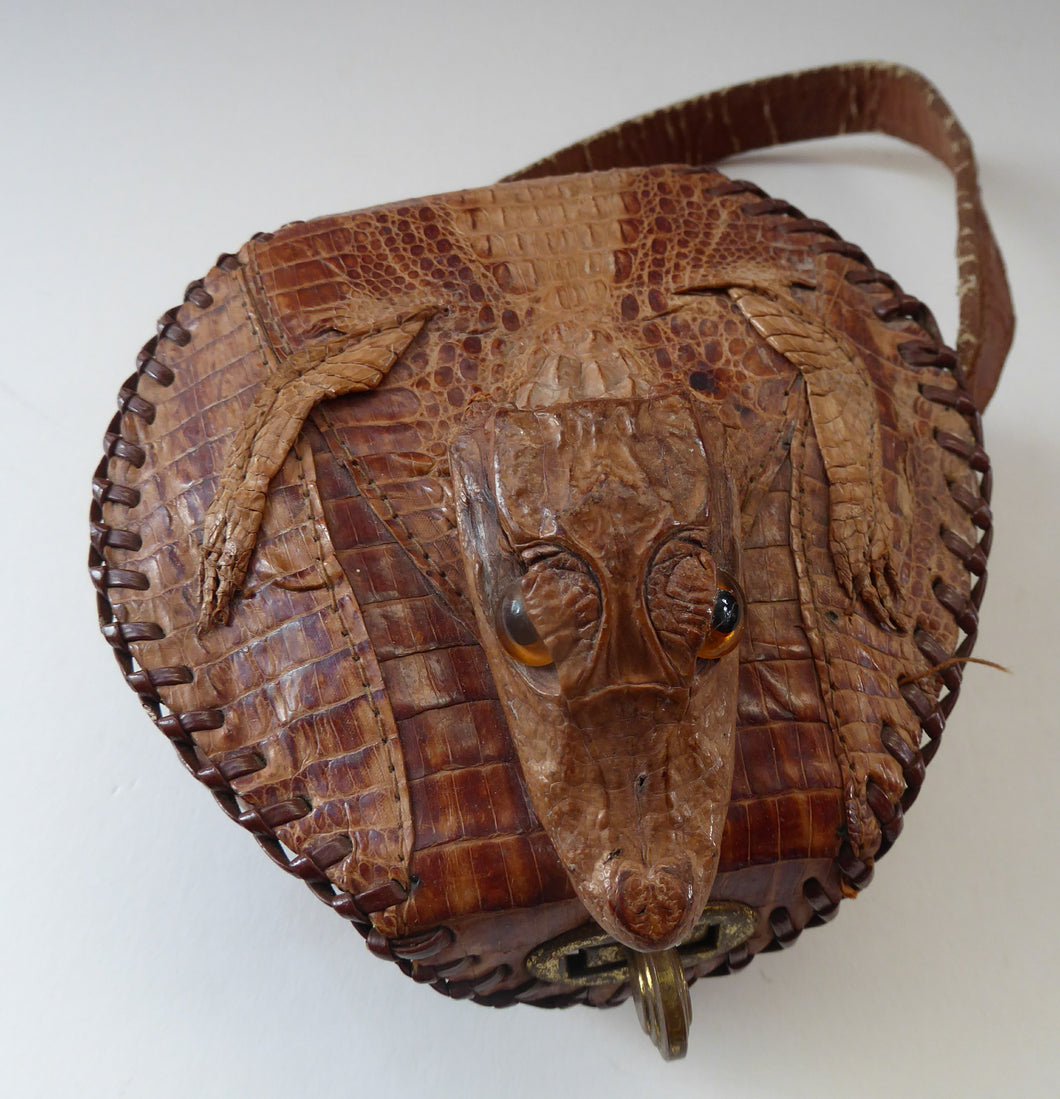 Miniature Alligator Handbag or Purse