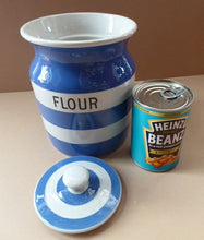 Load image into Gallery viewer, 1930s Cornishware Storage Jar: Flour