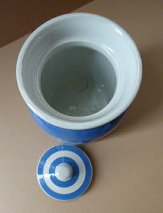 1930s Cornishware Storage Jar: Almonds