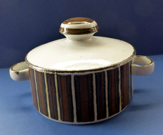 LARGE 1970s Chunky MIDWINTER Stonehenge EARTH Pattern Tureen or Lidded Serving Dish