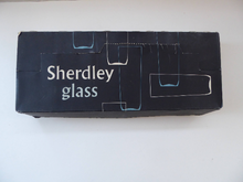 Load image into Gallery viewer, 1950s SHERDLEY Six Slim Jims Drinking Glasses. Abstract Design; Probably by Alexander Hardie-Williamson