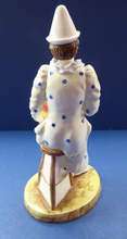 Load image into Gallery viewer, Fine Coalport PIERROT Figurine. White Faced Serenade from the Cavalcade of Clowns Series. Bone China