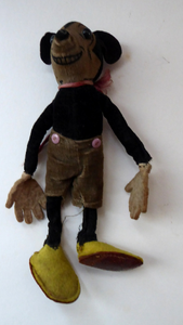 1930s Deans Miniature Rag Doll MICKEY MOUSE