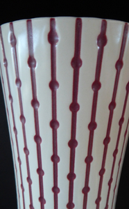 John Clappison. HUGE Vintage 1950s HORNSEA STUDIOCRAFT Vase Atomic Decoration. Height: 13 3/4 inches