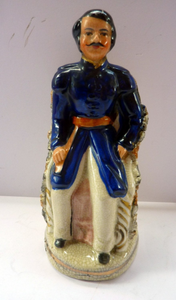 Prince Albert Pastille Burner. A GENUINE Antique 19th Century STAFFORDSHIRE FIGURINE