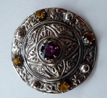 Load image into Gallery viewer, Vintage Silver Celtic Shield Brooch. Marked Silver - but most probably made by Shipton & Co, Birmingham