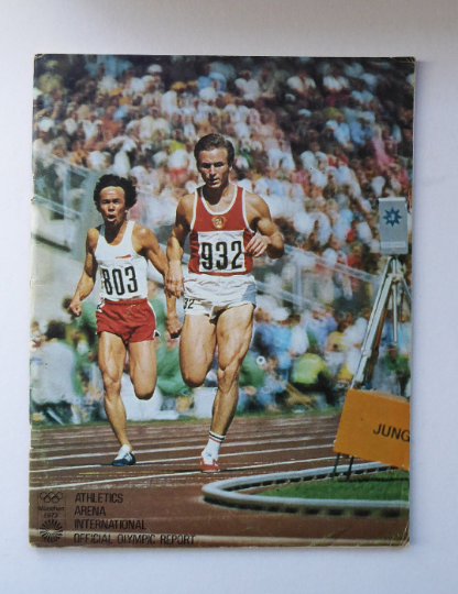 ATHLETICS Arena. Official Report on the Olympic Games. Munich 1972. VERY Rare Publication. Soft Covers