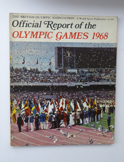 Official Report of the Olympic Games. Xth Winter Olympics Grenoble and XIX Olympiad MEXICO CITY 1968. Rare Publication. Soft Cover