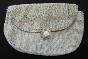 Beautiful Little Vintage FRENCH 1940s / 1950s Beaded Evening Purse; Embellished All Over with Glass Beads