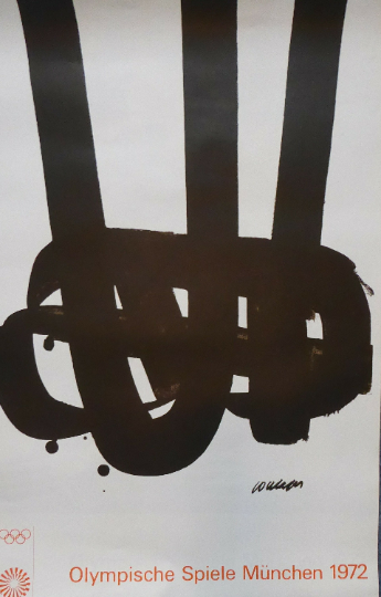 ORIGINAL Vintage Poster for the Olympic Games Held in Munich 1972 Artist: PIERRE SOULAGES